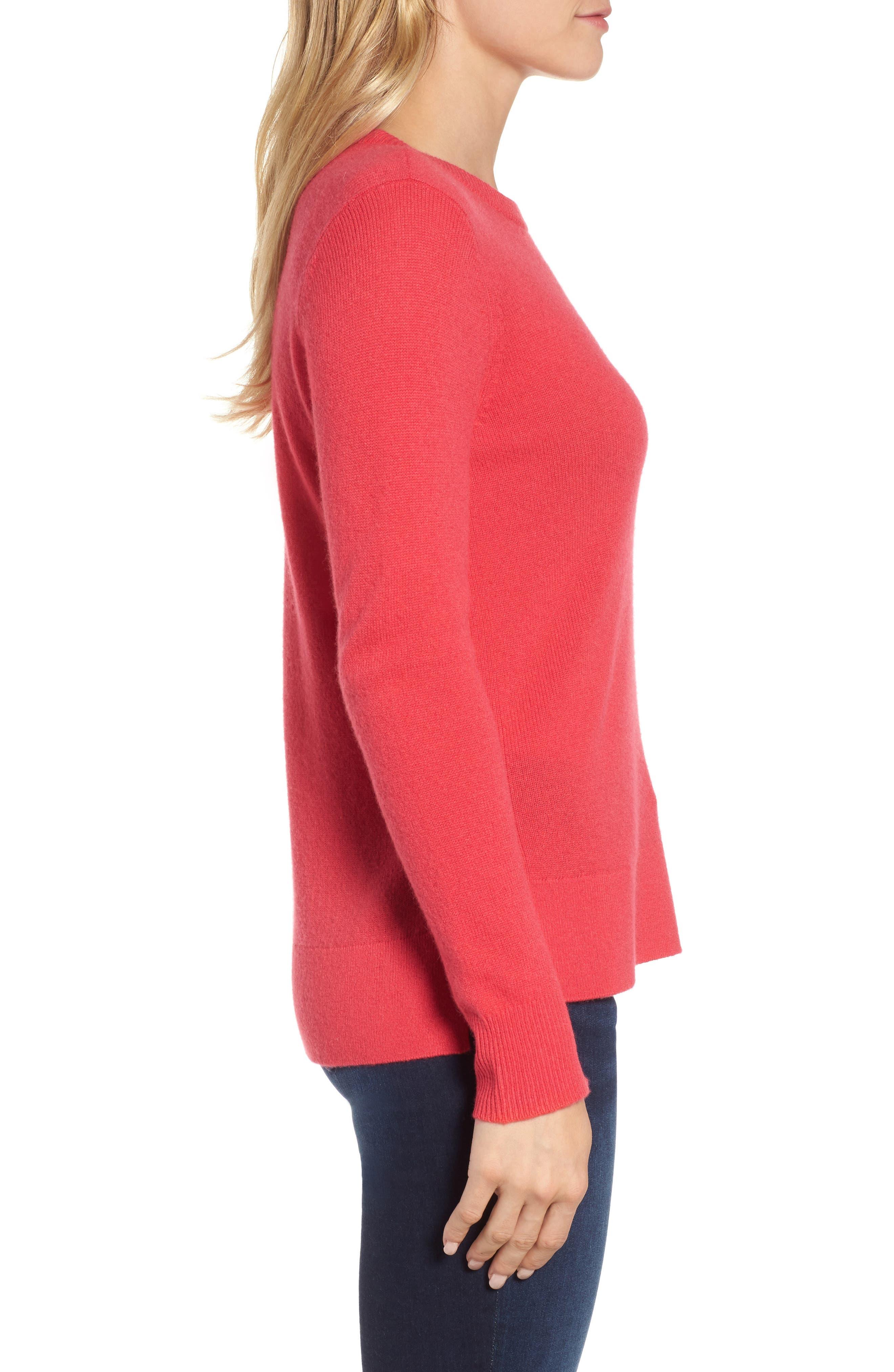 ,                             Crewneck Cashmere Sweater,                             Alternate thumbnail 164, color,                             650