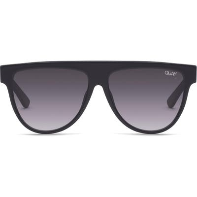 Quay Australia Last Night 57Mm Flat Top Sunglasses - Black/ Smoke
