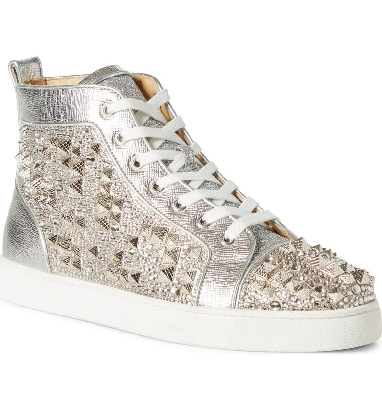 Louis Max Embellished High Top Sneaker by Christian Louboutin
