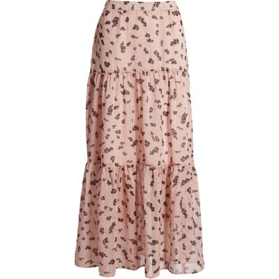 Leith Tiered Maxi Skirt, Pink