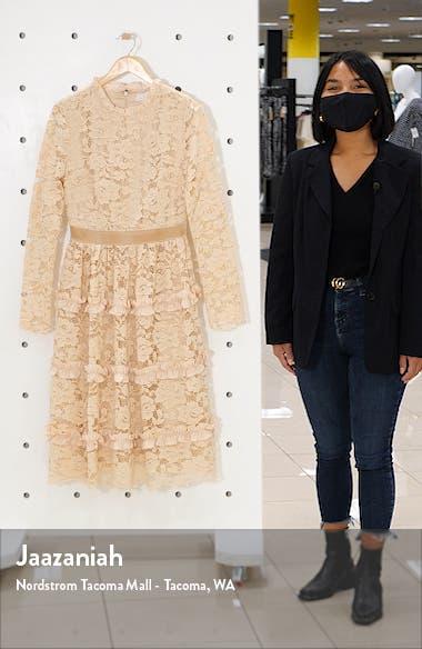 Ruffle Lace Long Sleeve Dress, sales video thumbnail