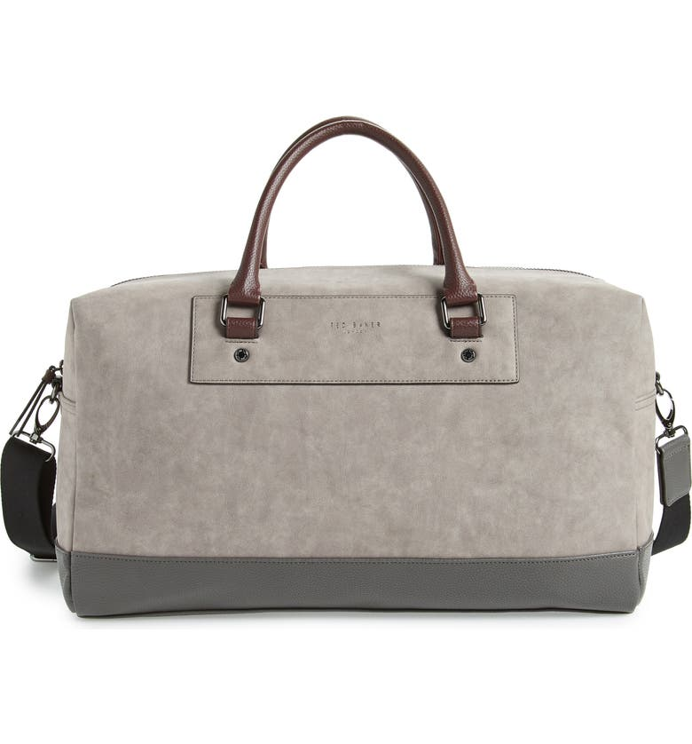 TED BAKER LONDON Duffle Bag, Main, color, GREY