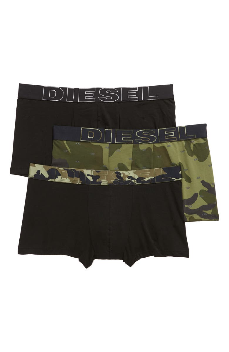 DIESEL<SUP>®</SUP> Damien 3-Pack Cotton Trunks, Main, color, 024
