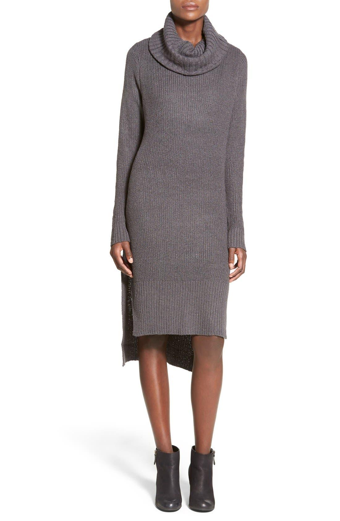 ,                             Cowl Neck Sweater Dress,                             Main thumbnail 1, color,                             021
