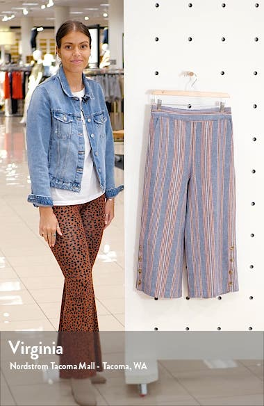 Huston Side Button Pull-On Crop Pants, sales video thumbnail