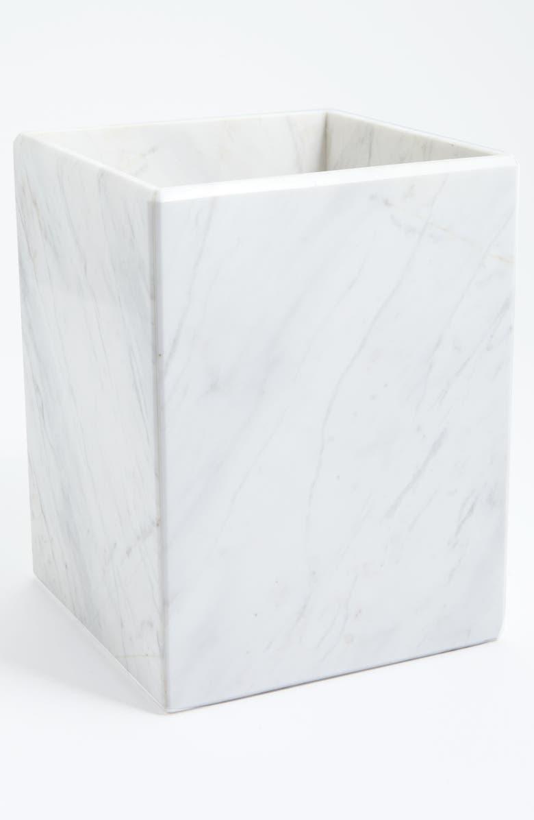 WATERWORKS STUDIO 'Luna' White Marble Wastebasket, Main, color, 100