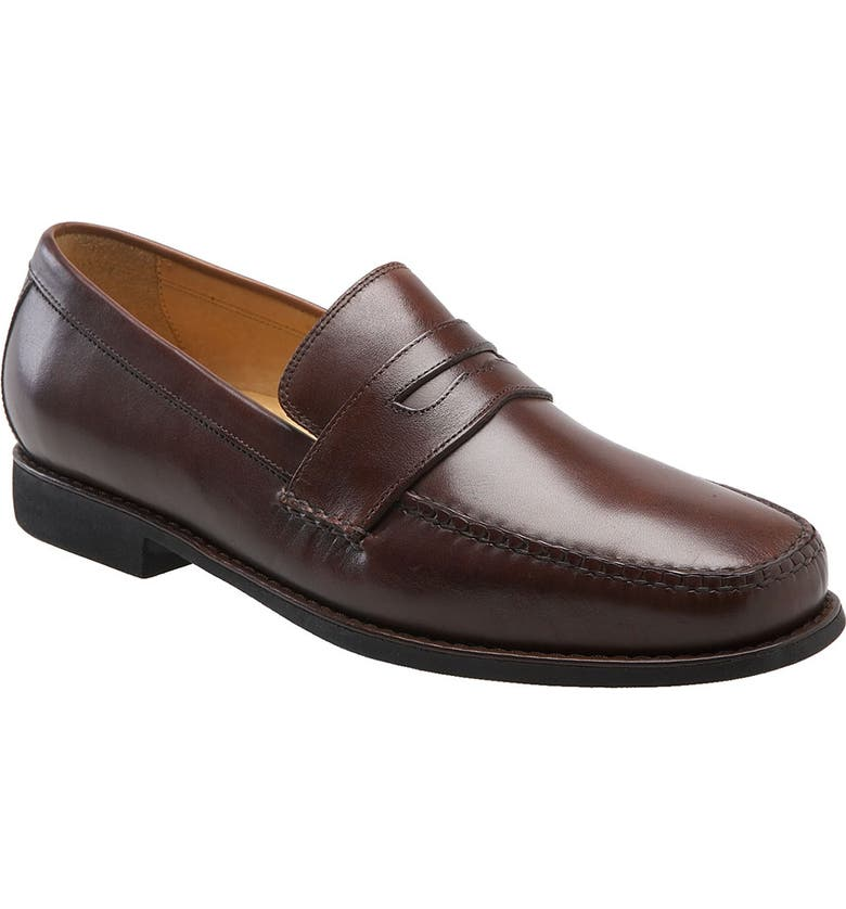 JOHNSTON & MURPHY 'Ainsworth' Penny Loafer, Main, color, ANTIQUE MAHOGANY
