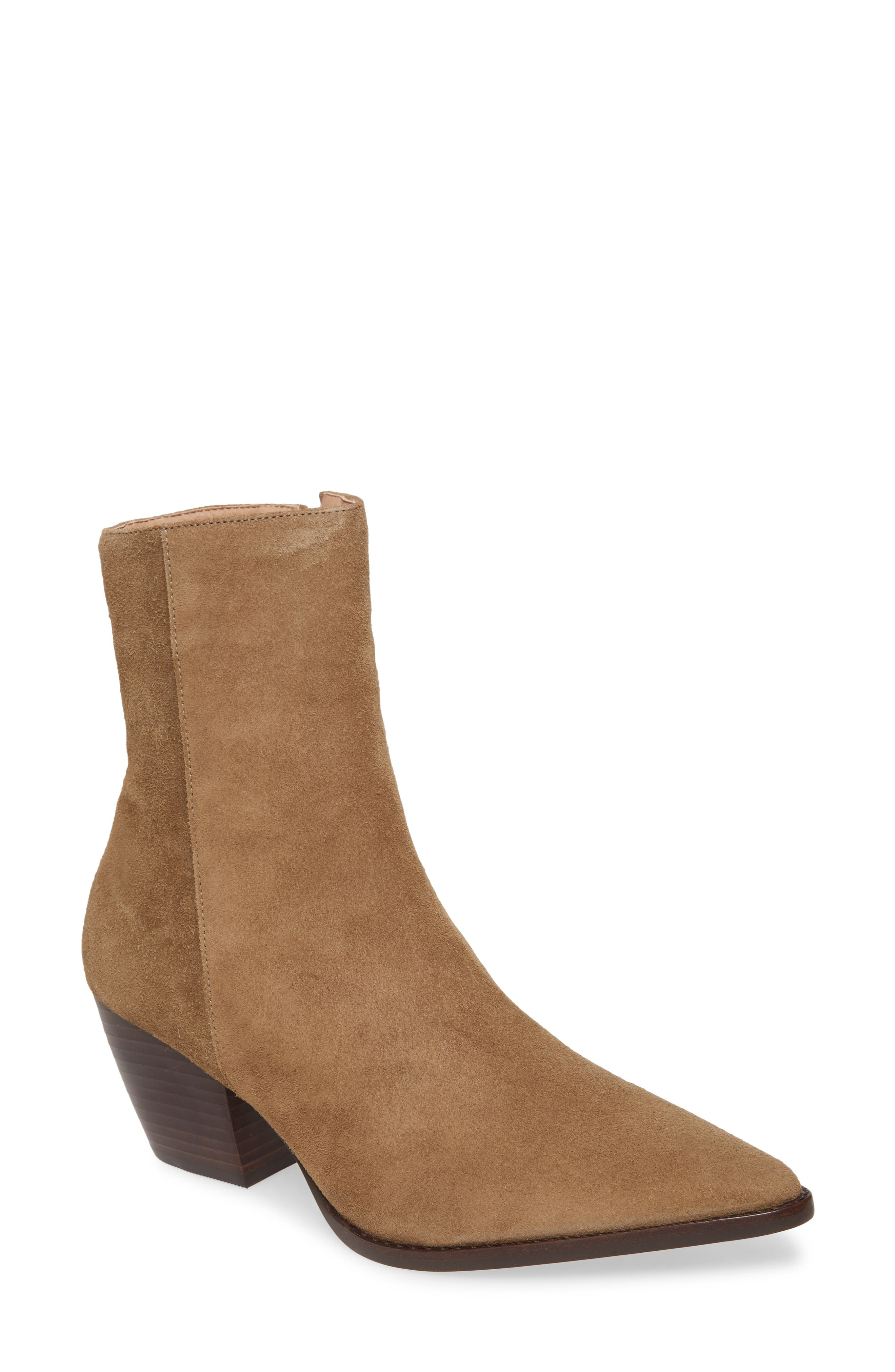 Matisse Caty Western Pointy Toe Bootie, Brown (Nordstrom Exclusive)