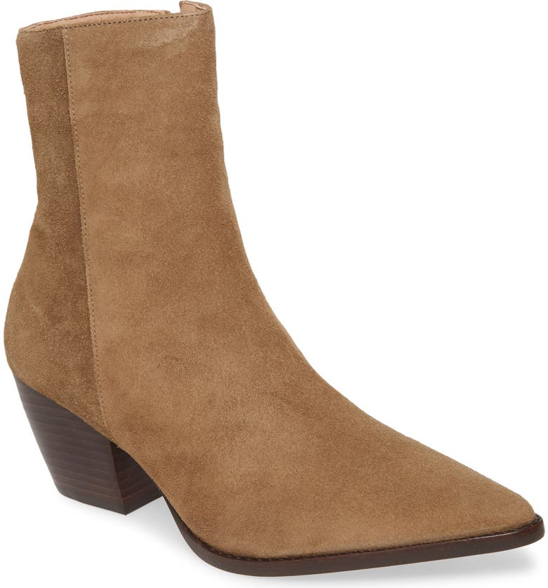 MATISSE Caty Western Pointy Toe Bootie, Main, color, TAUPE SUEDE