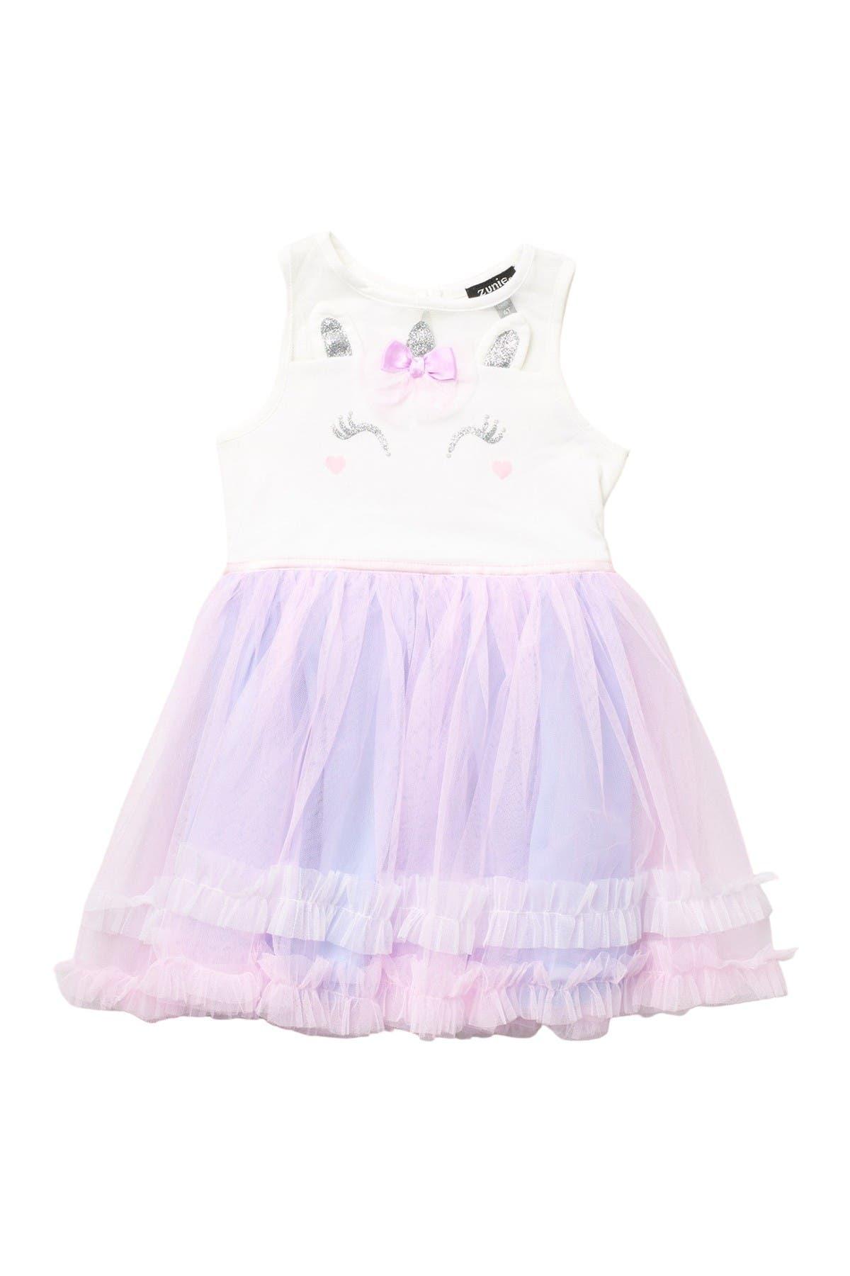 Image of Zunie Sleeveless Ruffle Skirt Dress