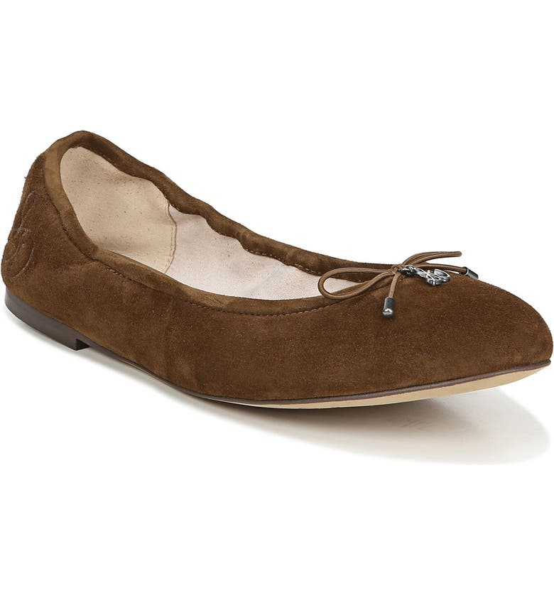 SAM EDELMAN Felicia Flat, Main, color, HAZELNUT SUEDE