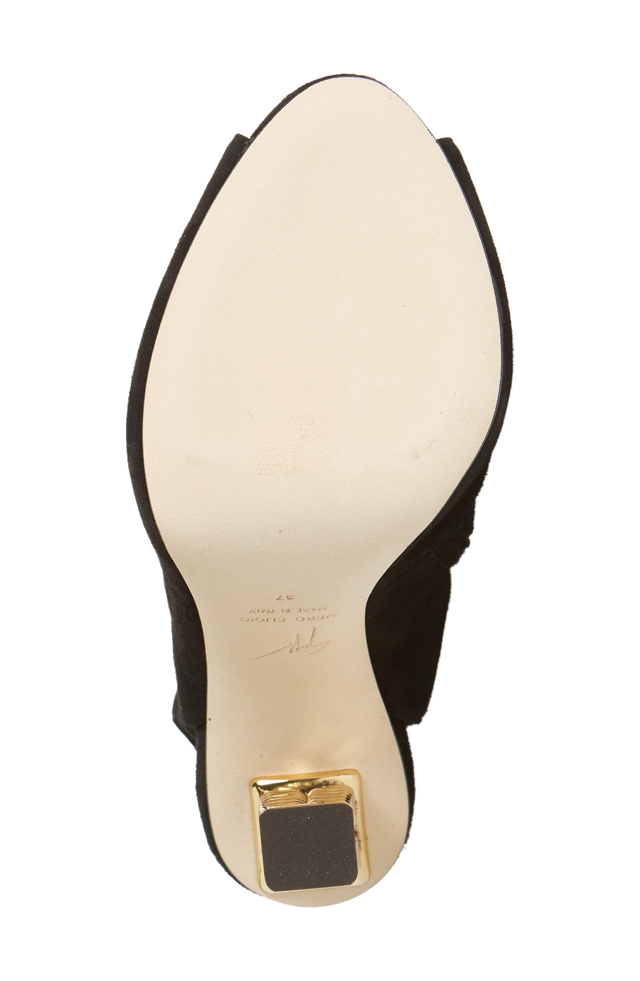 ,                             x Rita Ora Chain Heel Over the Knee Boot,                             Alternate thumbnail 6, color,                             BLACK
