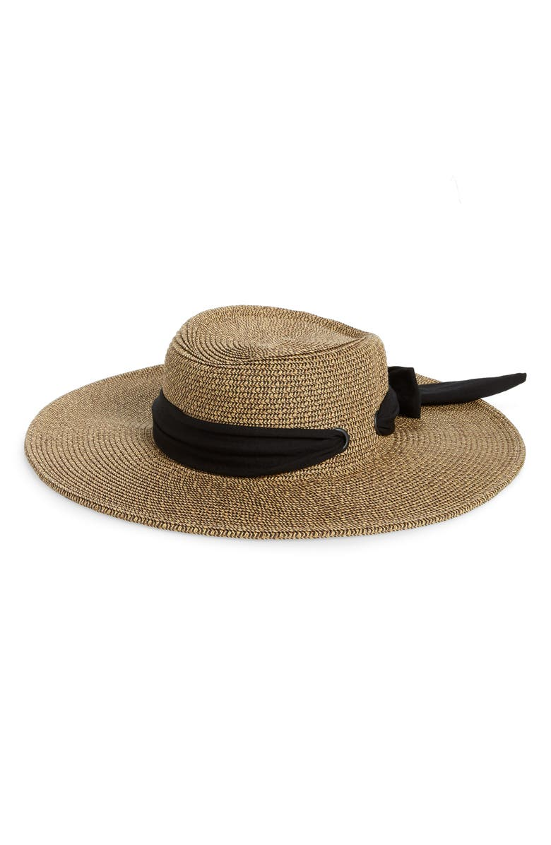 SAN DIEGO HAT Gondolier with Bow, Main, color, NATURAL/ BLACK