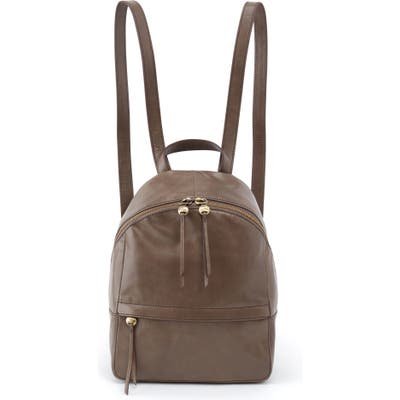 Hobo Cliff Leather Backpack - Grey