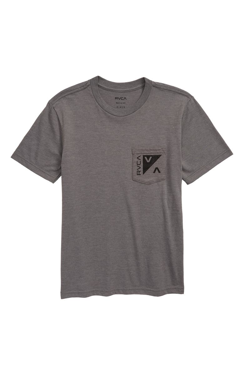 RVCA Check Mate Graphic T-Shirt, Main, color, GREY NOISE