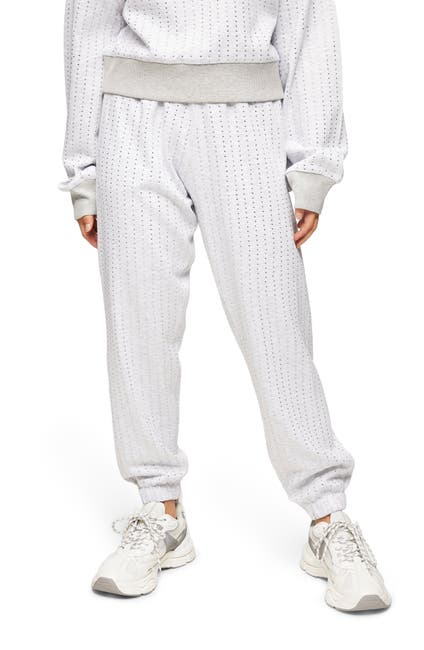 Image of TOPSHOP Hot Fix Studded Joggers