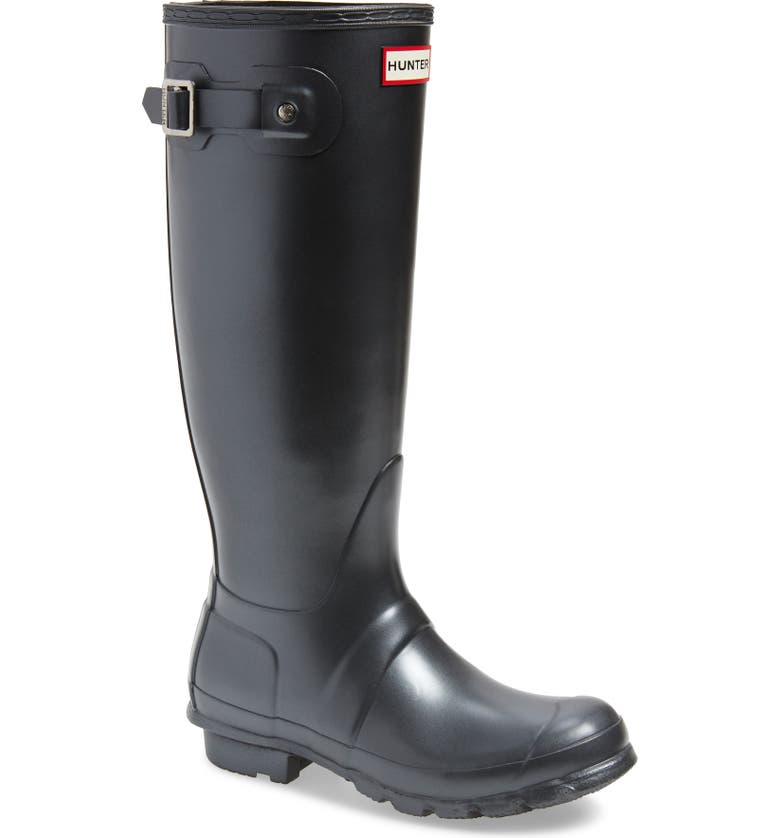 HUNTER Original Tall Nebula Rain Boot, Main, color, 001