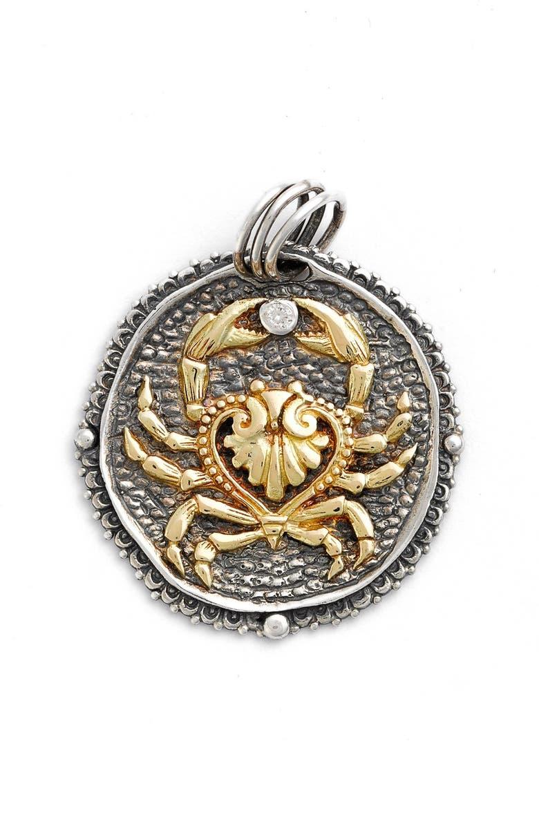 KONSTANTINO Zodiac Pendant, Main, color, CANCER/ SILVER/ GOLD