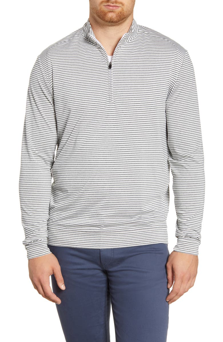 JOHNNIE-O Turn Classic Fit Quarter Zip Pullover, Main, color, METEOR