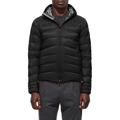 Canada Goose Brookvale Slim Fit Hooded Down Jacket, Black