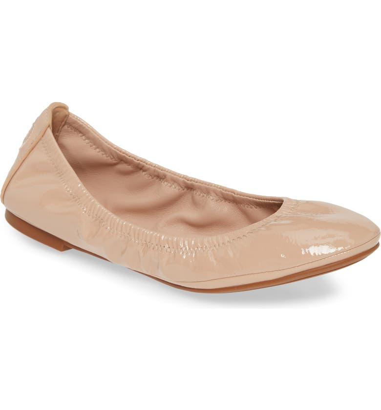 TORY BURCH Eddie Ballet Flat, Main, color, SAND/ SAND