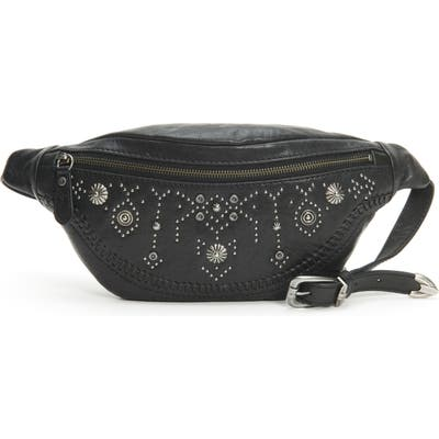 Frye Concho Studded Leather Belt Bag - Black
