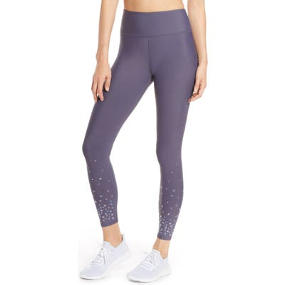 Soul By Soulcycle High Waist Grommet Tights, Grey