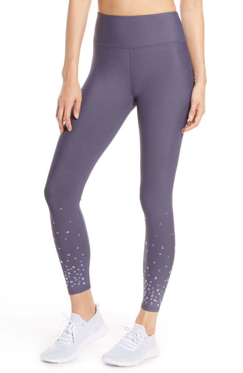 SOUL BY SOULCYCLE High Waist Grommet Tights, Main, color, GREY