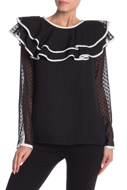 Image of Vertigo Ruffle Long Sleeve Blouse
