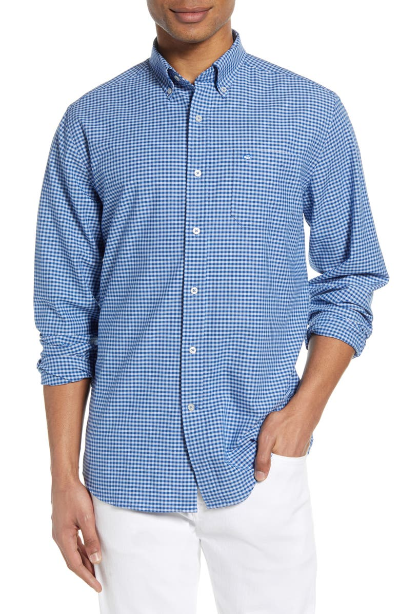 SOUTHERN TIDE Channel Marker Gingham Button-Down Shirt, Main, color, 486