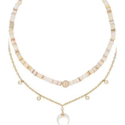 Ettika Shell & Crescent Horn Set Of 2 Necklaces