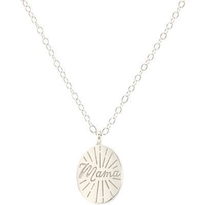Kris Nations Mama Disc Charm Necklace