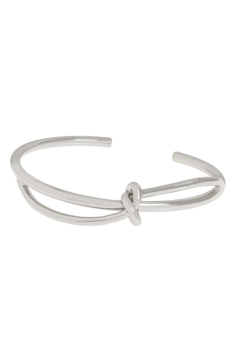 ALLSAINTS Knot Twist Bracelet, Main, color, SILVER