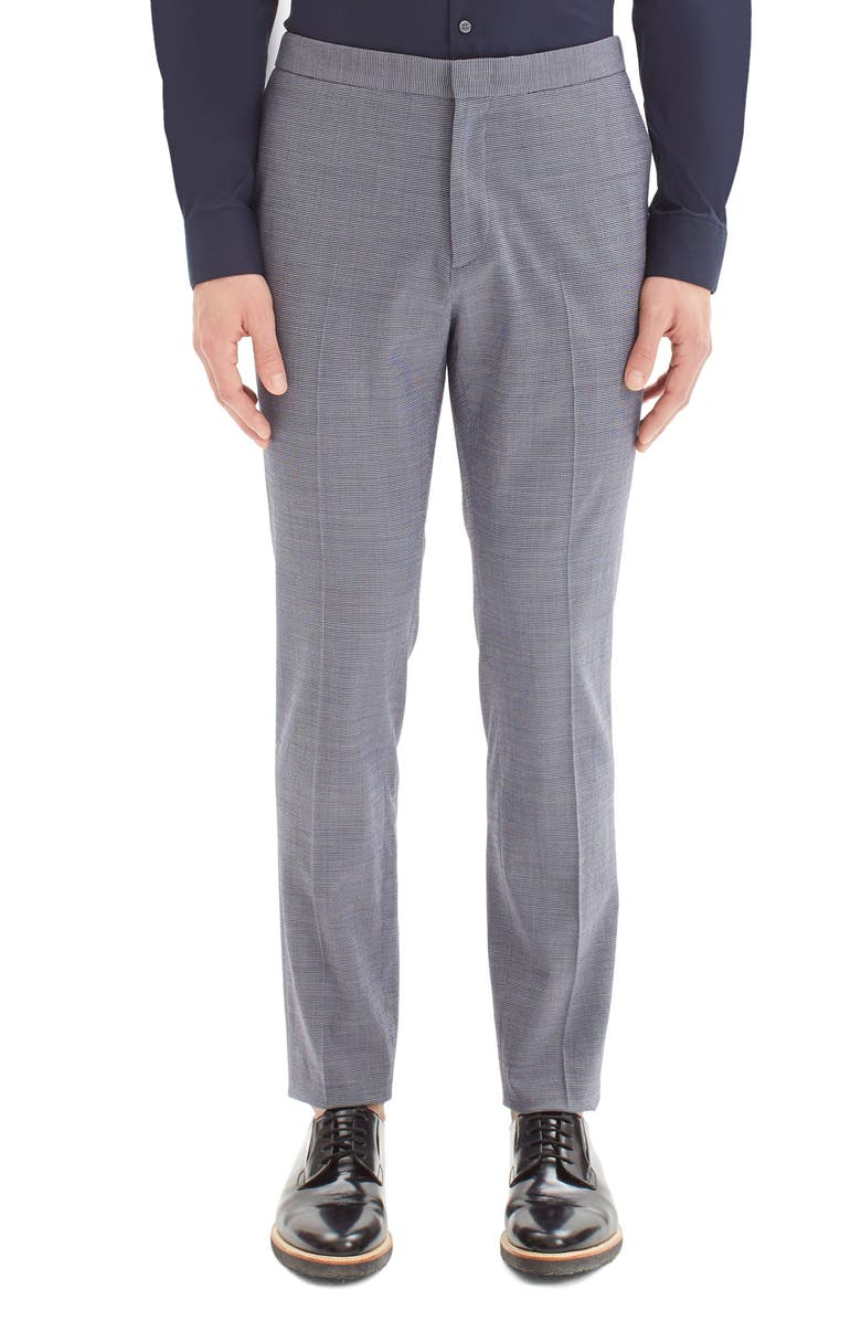 THEORY Tatum Houndstooth Wool Blend Pants, Main, color, 400