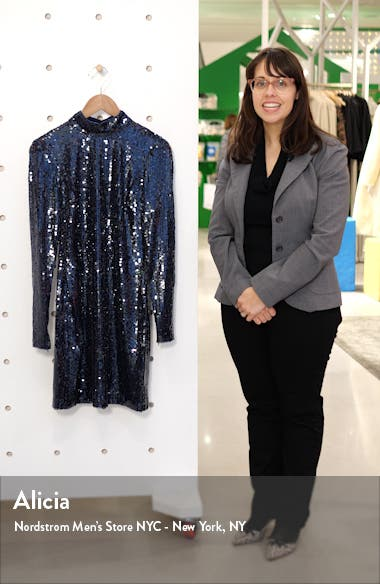 Liza Sequin Long Sleeve Minidress, sales video thumbnail