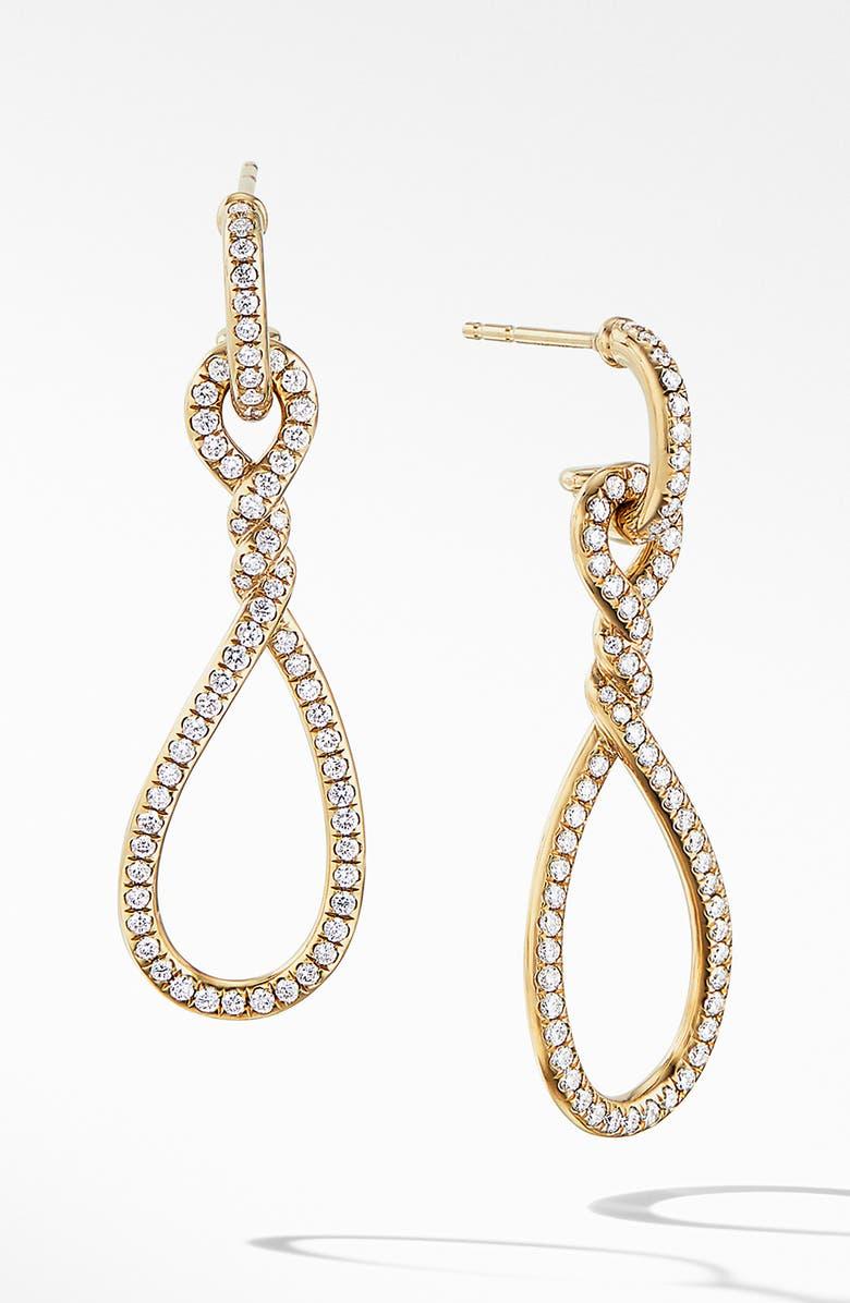 983ae27916fb5 David Yurman Continuance Full Pavé Small Drop Earrings in 18K Yellow ...