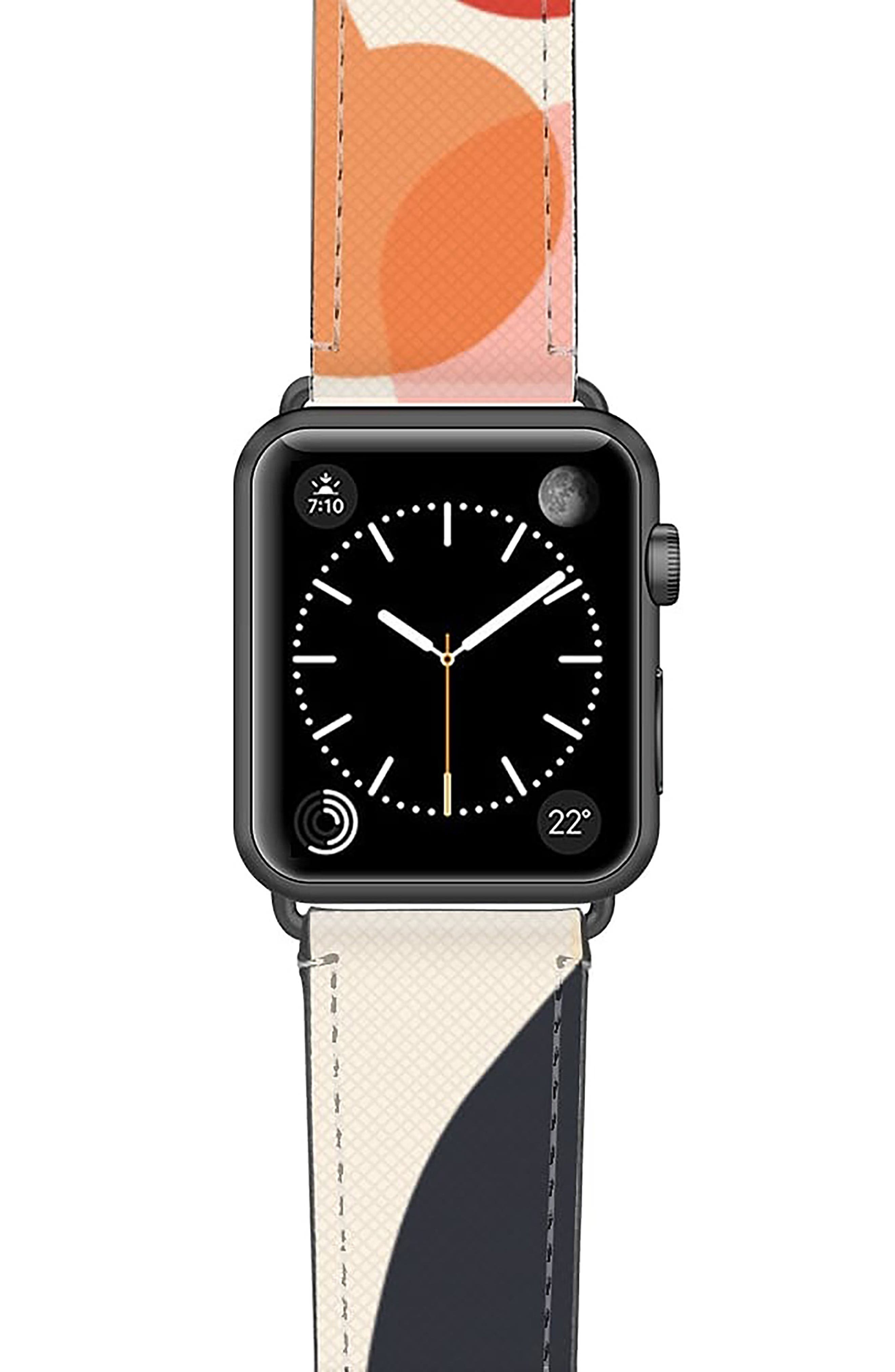 Cool Beans Saffiano Faux Leather Apple Watch Strap