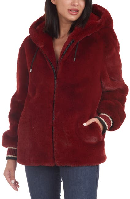 Image of Rachel Rachel Roy Hooded Faux Fur Coat
