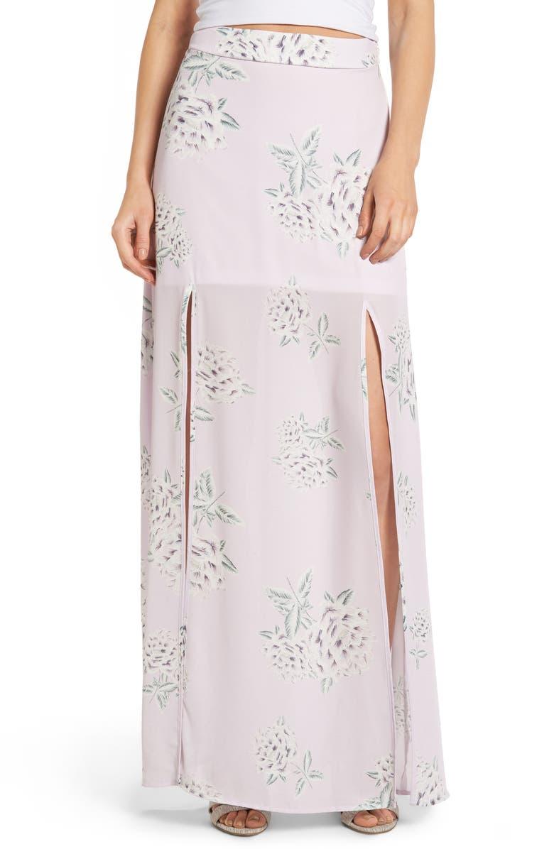 SHOW ME YOUR MUMU Double Slit Skirt, Main, color, 530