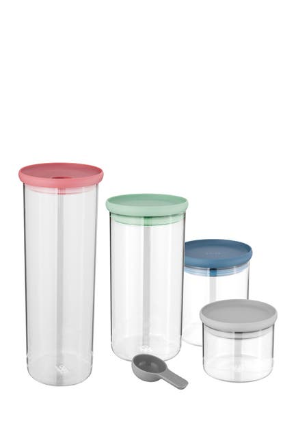 Image of BergHOFF Leo 4-Piece Covered Container & Scoop Set