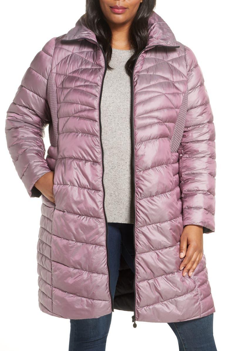 BERNARDO Packable Walker Coat, Main, color, 581