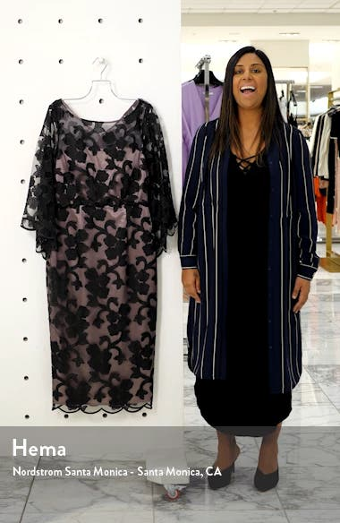 Illusion Mesh Bell Sleeve Cocktail Dress, sales video thumbnail