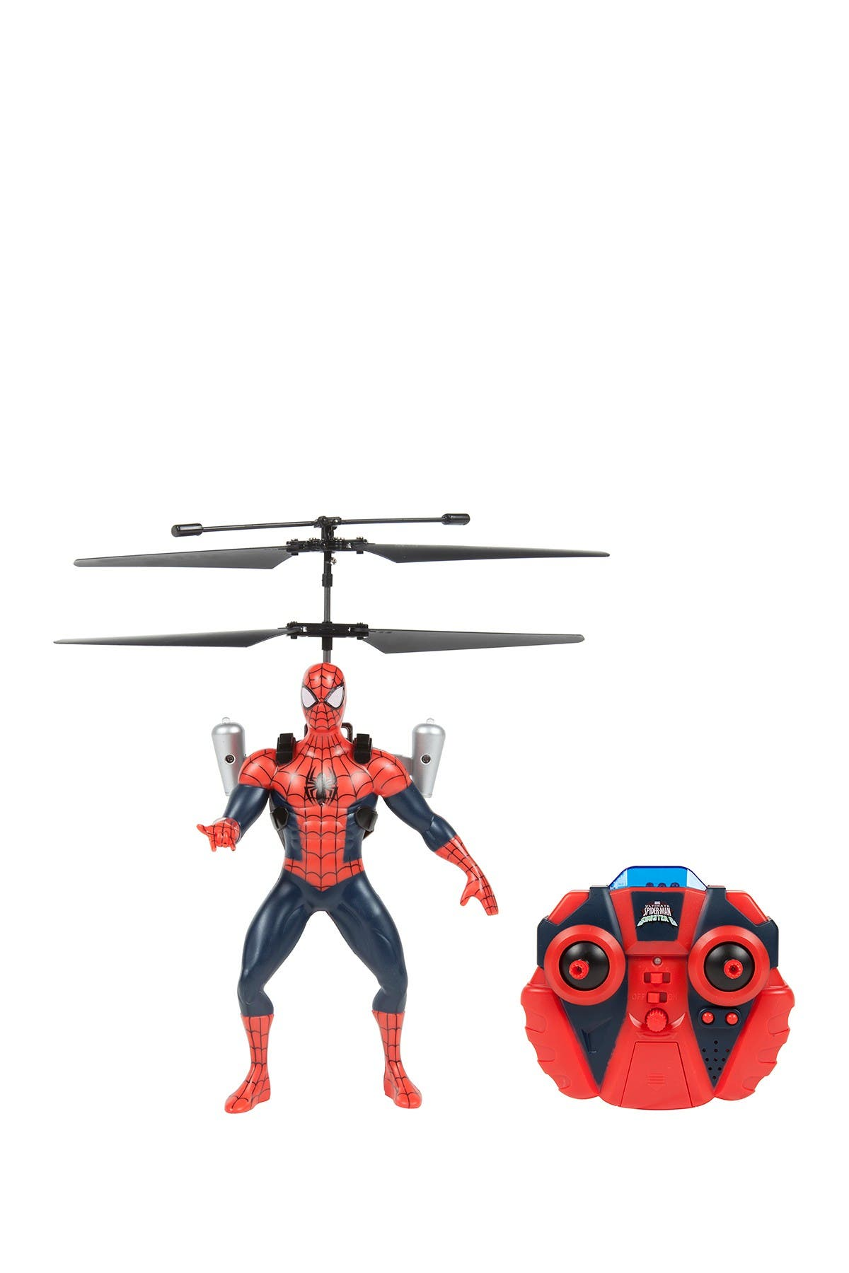 Image of World Tech Toys Marvel Licensed Ultimate Spider-Man Vs The Sinister 6 Jetpack 2CH IR RC Helicopter