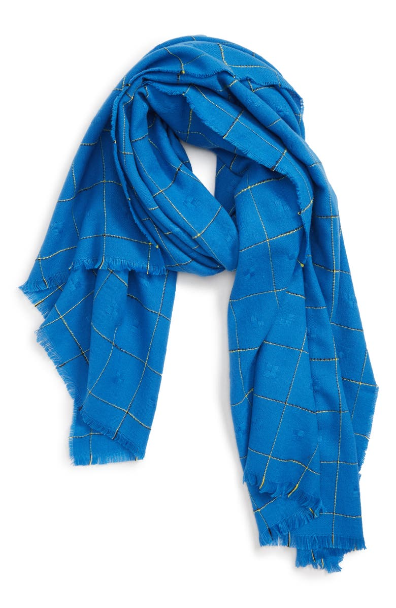 LEITH Grid Check Oblong Scarf, Main, color, 400