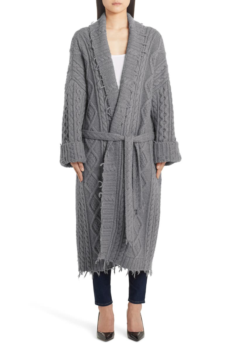 ALANUI Oversize Fisherman Cardigan Coat, Main, color, MICA GREY