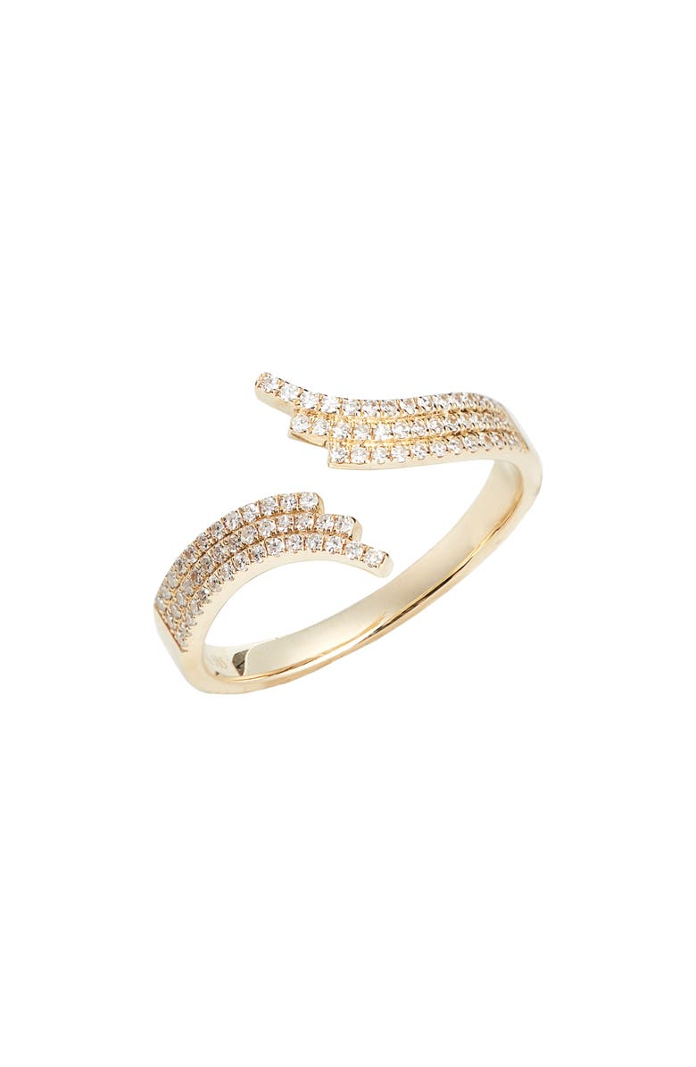 EF COLLECTION Willow Diamond Ring, Main, color, YELLOW GOLD/ DIAMOND
