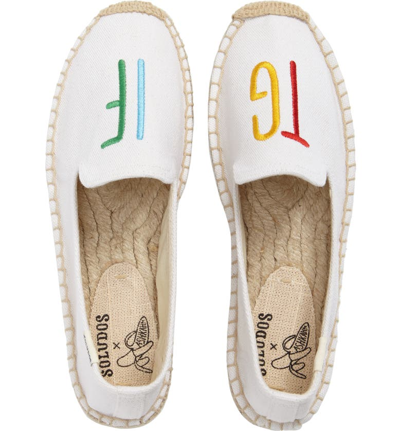 SOLUDOS x ASHKAHN TGIF Embroidered Platform Espadrille, Main, color, 100