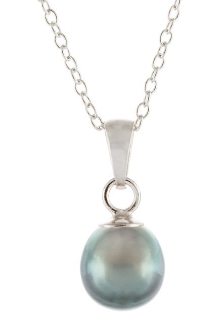 Image of Splendid Pearls 9-10mm Tahitian Pearl Pendant Necklace