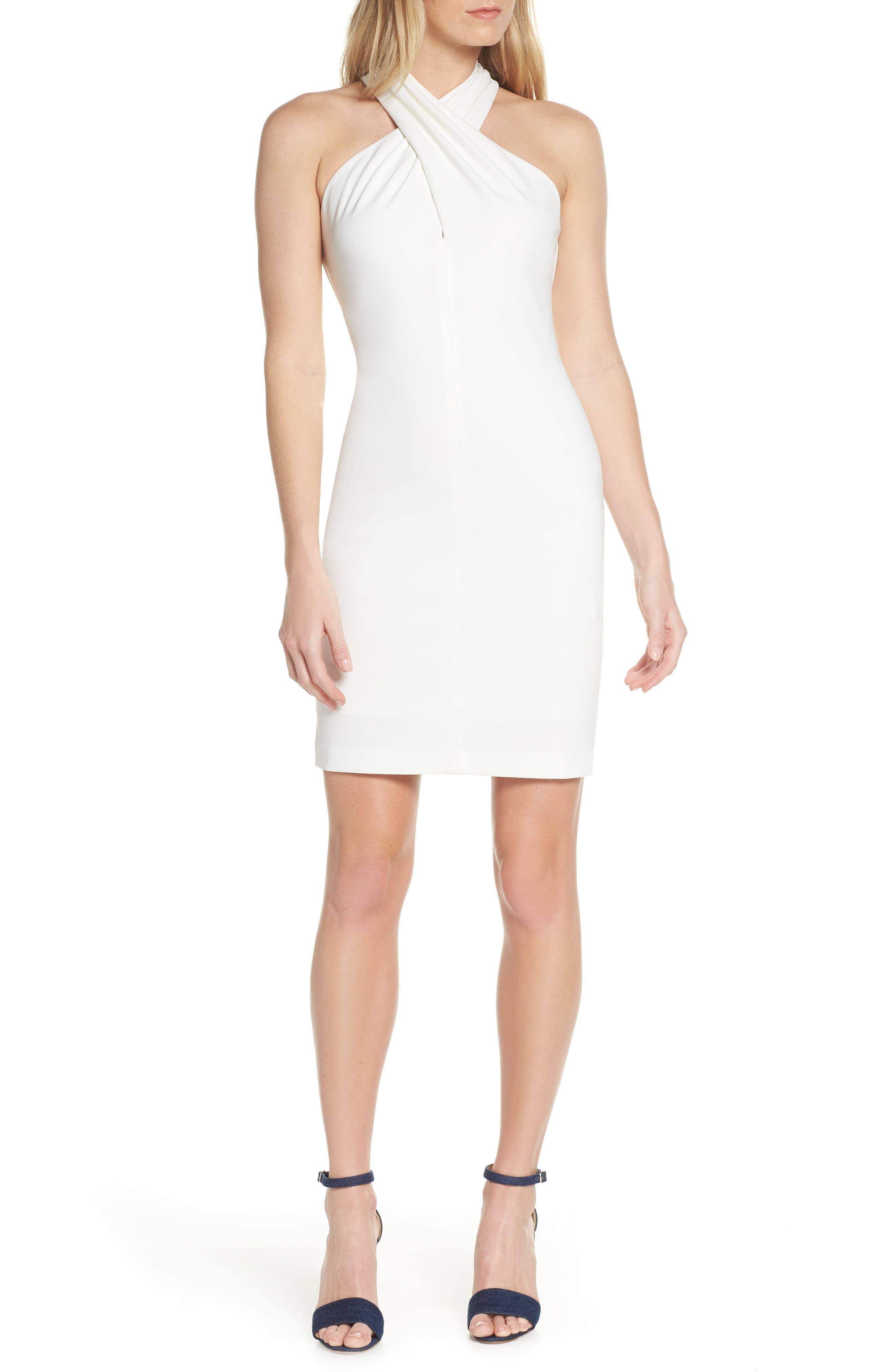 Eliza J Halter Sheath Dress, Ivory