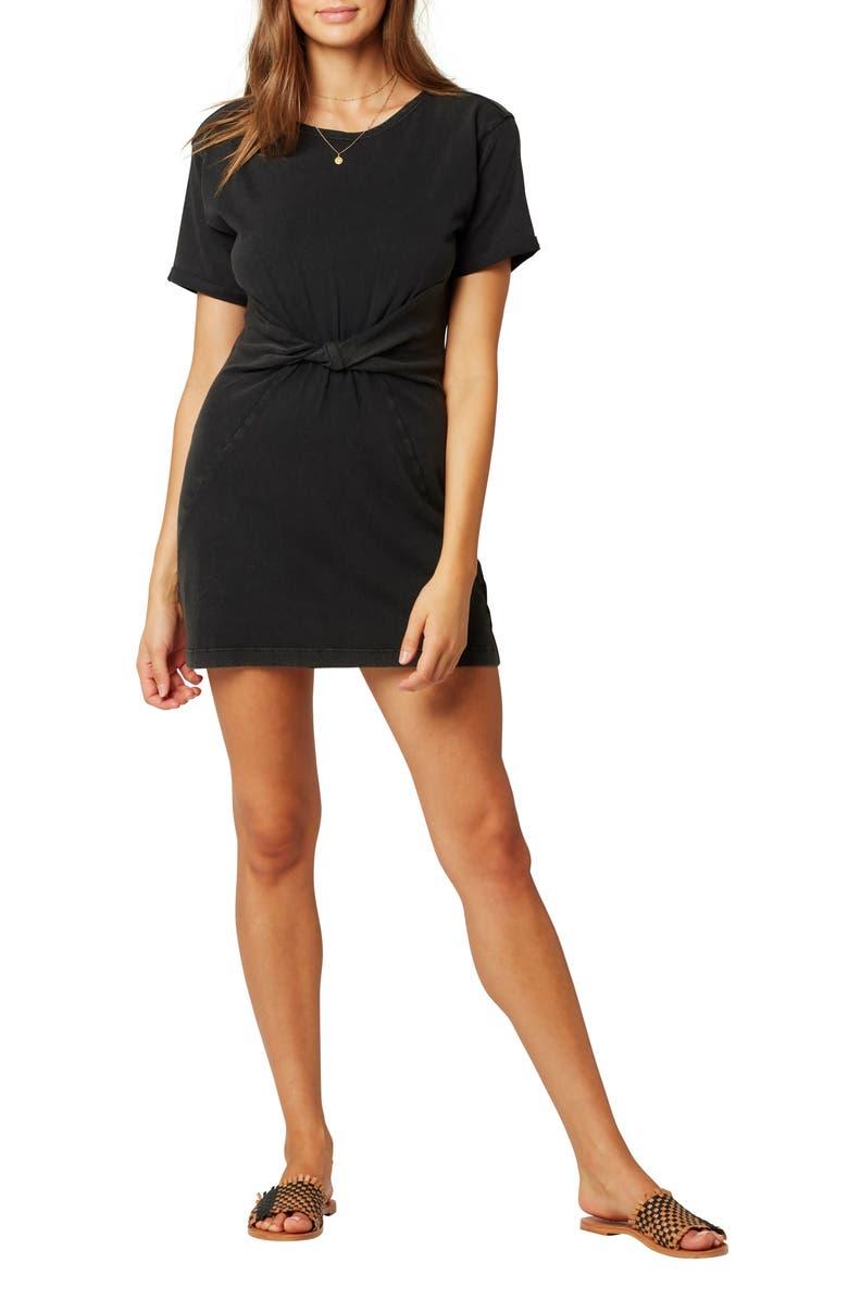 L SPACE Beachwood Twist T-Shirt Dress, Main, color, 001